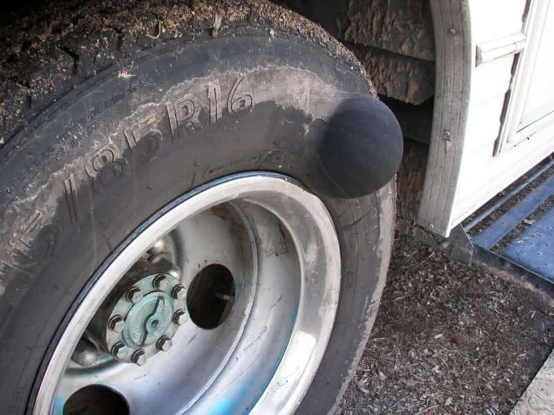 Driving with Tire Bulge